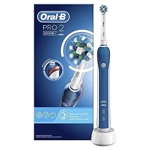 Oral-B PRO22000N CrossAction Brosse à Dents Électrique Rechargeable par Braun, 1Manche, 2Modes dont Douceur, 1Brossette