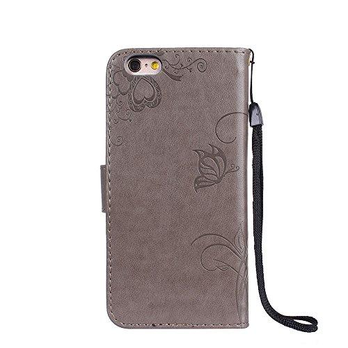 ZeWoo Folio Ledertasche - R163 / Ameisen dating (Rose Red) - für Apple iPhone 6 (4,7 Zoll) PU Leder Tasche Brieftasche Case Cover R158 Plum Blume
