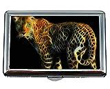 Zigarettenetui/Karton - King Size, Leopard Raubtier fleischfressendes Tier Kreditkarten-ID-Etui