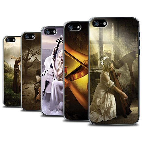 Officiel Elena Dudina Coque / Etui pour Apple iPhone SE / Pack 6pcs Design / Réconfort Musique Collection Pack 6pcs