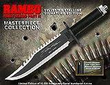 "RAMBO 2 - First Blood Part II Messer - Master Cutlery - lim. Signature Edition (Sylvester Stallone) in ""golden Box"" *Original+NEU+OVP*"