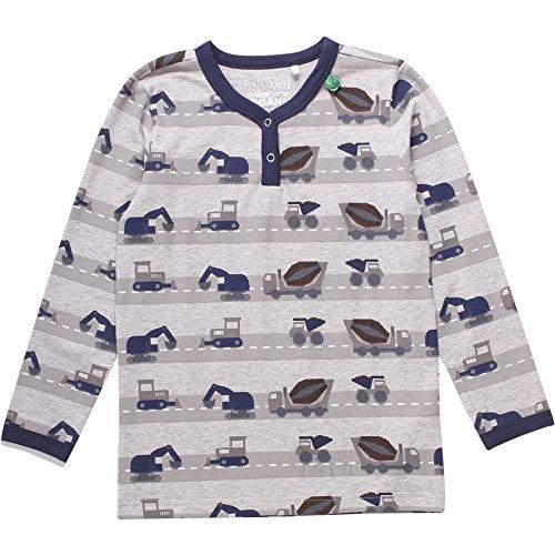 Fred\'s World by Green Cotton Jungen T-Shirt Work T Baby, Grau (Pale Greymarl 207670000), 86