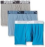 Puma Herren Boxer Shorts 3P Weich Stoff Sports Athletic Hose
