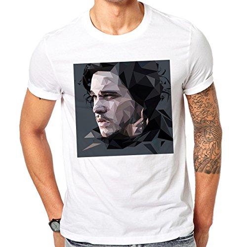 Jon Snow Game Of Thrones Kit Harington Art Herren T-Shirt Weiß