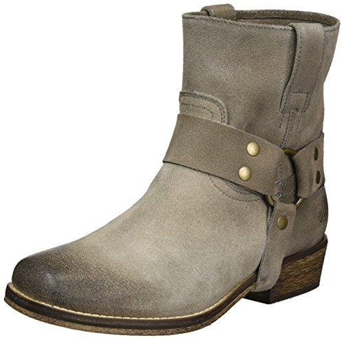 Amo Le Caramelle Damen Western Biker Boots Grau (grigio)