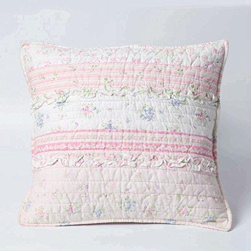 ons Bettwäsche-Set mit rosafarbener Rose, romantischer Schick, Blumenmuster, 3D-Streifen, Baumwolle, wendbar, für Mädchen und Frauen, Baumwolle, Multi, Decor Pillow -1pc ()