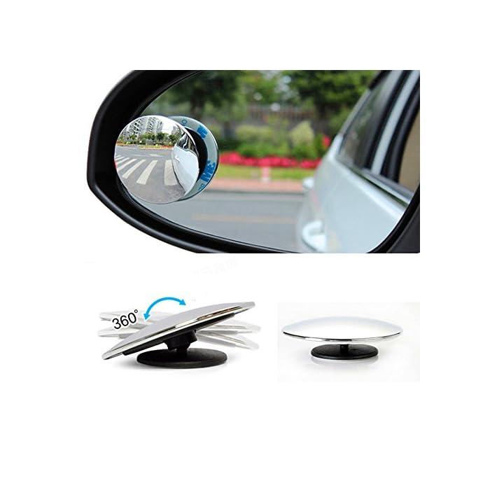 7235f8137d8c 2 Pcs Set Blind Spot Mirrors Upgrade Round 2″ Frameless HD Glass ...