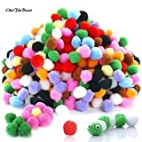 ChicTheDecor Acrylic Woollen Yarn 2cm Pompom Balls, Multicolour (Pack of 100