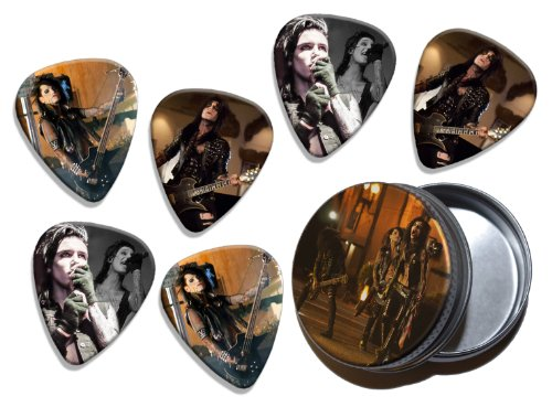 Black Veil Brides Andy Biersack (WK) 6 X Live Performance Gitarre Plektrums Picks in Tin Black Veil Brides-instrumente
