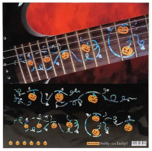 Halloween Bundmarkierer Mark-Ivy Weinrebe mit Kürbis-Satz Bundmarker, Inlay-Sticker für Gitarre