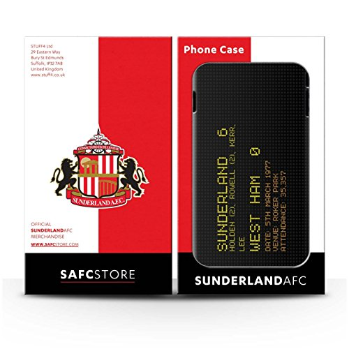Officiel Sunderland AFC Coque / Clipser Brillant Etui pour Apple iPhone SE / Pack 6pcs Design / SAFC Résultat Football Célèbre Collection 1977