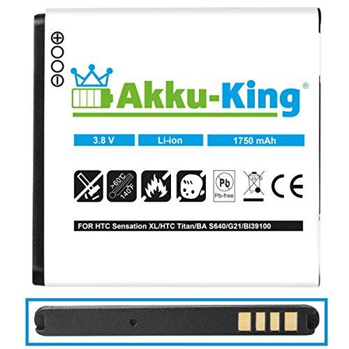 Akku-King batería para HTC Desire U, V, VC, X - como BA S800 Li-Ion - 1750mAh