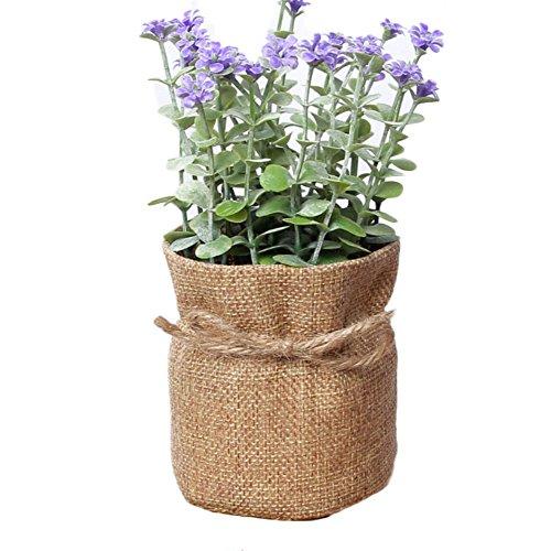 n einen Topf Ornament Dekoration Hausgemachte, violett, 7.5 * 16.5cm ()
