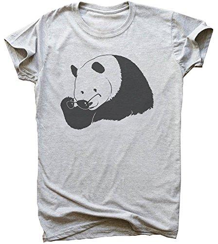 idcommerce Cool Panda Taking of Sungalsses Herren T-Shirt Large