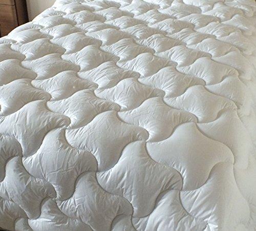 Funda para edredón y almohada Superior Luxxur 4,5 Tog para primavera-verano algodón-microgel-Lyocell - para cama de matrimonio 200 x 200 cm