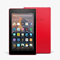 "Fire 7 Tablet with Alexa, 7"" Display, 8 GB, Punch Red — with Special Offers"