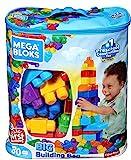 Mega Bloks Bolsa clásica con 80 bloques de construcción, juguete para bebé +1 año Mattel DCH63)