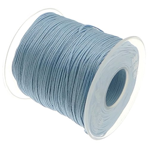 My-Bead 90m Nylonband Kordel 1mm Blau Babyblau Wasserfest Nylonschnur Top Qualität Schmuckherstellung basteln DIY