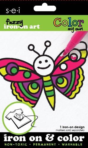 Unbekannt Sei 3.35-inch by 12,7cm Schmetterling Farbe My Own Eisen auf Übertragung, 1Bogen -