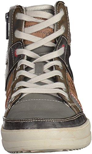 Mustang Schnür-Booty Herren Hohe Sneakers Grau - Gris - Grau (2 Grau)