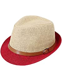 Leisial Unisexe Panama Chapeau de Paille Chapeau de Soleil Anti-soleil Respirant Anti UV pour été Loisir Voyage