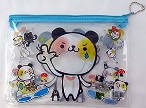 Cartoon Zipper Transparent mignon de remplissage de sac / Organisateur / école / travail (Froid Chien)