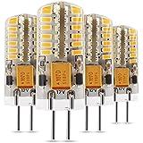 Albrillo 3W G4 LED Lampe dimmbar 48*3014 SMD Warmweiß (3000 Kelvin), 190 Lumen, AC/DC 12V, 4er Pack