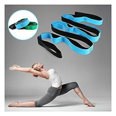 Scotamalone Stretch-Out-Gurt, Yoga-Gurt für Dehnung und Rehabilitation, Reha-Stretch-Band mit 12 Schlaufen, um Ihre Flexibilität zu Verbessern - Physiotherapie-Ausrüstung