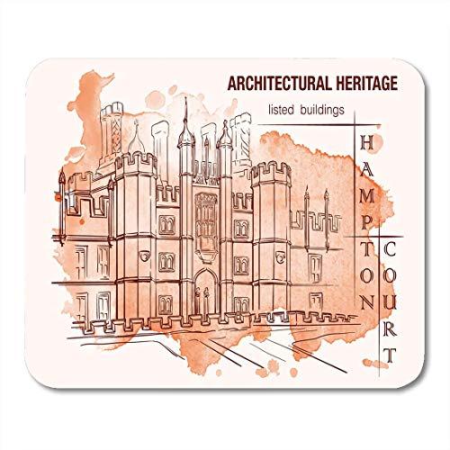 Mauspads Geschichte der britischen Baustile Tudor Architecture Hampton Mauspad für Notebooks, Desktop-Computer Matten Bürobedarf -