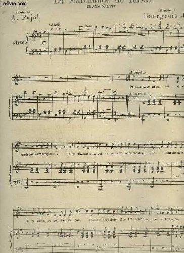 LA MARCHANDE DE ROSES - POUR PIANO ET CHANT.
