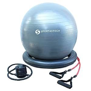 """VERGLEICHSSIEGER: Premium Gymnastikball """"Workout Ball"""" von Sportastisch :: Innovative Widerstandsbändern für Fitnesstraining :: Anti-Burst-Schutz :: INKLUSIVE Fußpumpe :: Durchmesser 65cm :: kostenloser BONUS: eBook """"Training mit dem Gymnastikball"""" :: geprüfte Markenqualität Einsteiger oder Profis :: INKLUSIVE Bodenring :: Exklusives Design für Schwangere, Erwachsene und Kinder :: Perfekter Sitzball geeignet für Zuhause oder im Büro :: inklusive 3 Jahren Sportastisch Produktgarantie"""