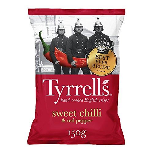 Tyrrell's, Patata de bolsa (Chile dulce y Pimienta Roja) - 12 de 150 gr. (Total: 1800 gr.)