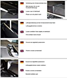 KUDA Navigationskonsole passend für Navi BMW 3er (E90) ab 03/05 (o. i-Drive) Echtleder schwarz