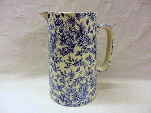 Half Price Blue Blossom 2 Pint Jug By Heron Cross Pottery