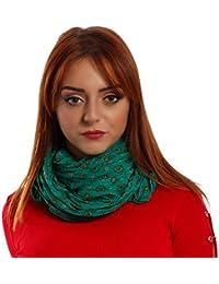 Damen Schal Halstuch mit Paisley-Muster One Size fits all