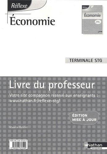 Economie Terminale STG : Livre du professeur