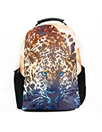 3D Leopard Theme Printed Exclusive Backpack Bag For 15.6-inch Laptop Bag , School , College And Casual Travel...