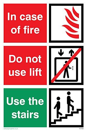 Nicht Verwenden, Lift (Viking Schilder fv1350-a6p-v
