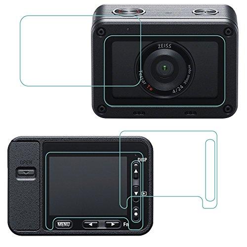 AFUNTA Bildschirm und Objektiv Schutzfolie für Sony RXO, 2Packungen (4PCS) kratzfest gehärtetem Glas Schutzfolie für DSLR digitale Kamera