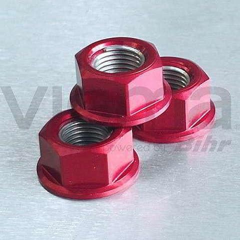 PRO-BOLT - 50107 : Tuerca De Aluminio 12Mm Rojo Lspn12R
