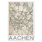 artboxONE Poster 60x40 cm Städte Aachen Germany Map hochwertiger Design Kunstdruck - Bild Städte von David Springmeyer