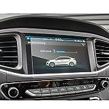 LFOTPP Hyundai Ioniq Hybrid Elektro 8 Pulgadas Navegación Protector de Pantalla - 9H Cristal Vidrio Templado GPS Navi película protegida Glass