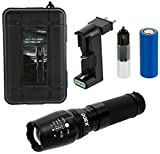 ACE LED Taschenlampe Extrem Hell - Tactical Flashlight, Wiederaufladbar mit Akku-Ladegerät, inkl. Case