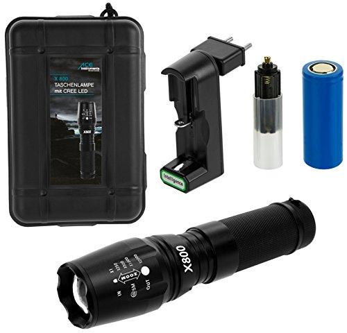 Ace Táctica CREE LED Superbrillantes Batería Linterna
