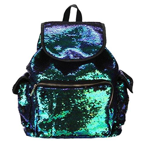 Longra® Girls Fashion Double Color Sequins School Bag Soft Backpack Bag