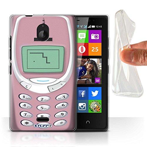 Stuff4® Gel TPU Hülle/Hülle für Nokia X2 Dual SIM/Rosa Nokia 3310 Muster/Vintage Handys Kollektion