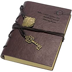 Tongshi Nueva Vintage Magic Key cuero de la secuencia Retro Cuaderno Diario Notebook