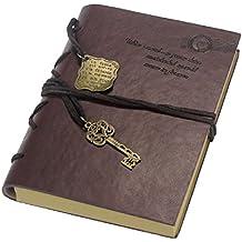 Tongshi Nueva Vintage Magic Key cuero de la secuencia Retro Cuaderno Diario Notebook