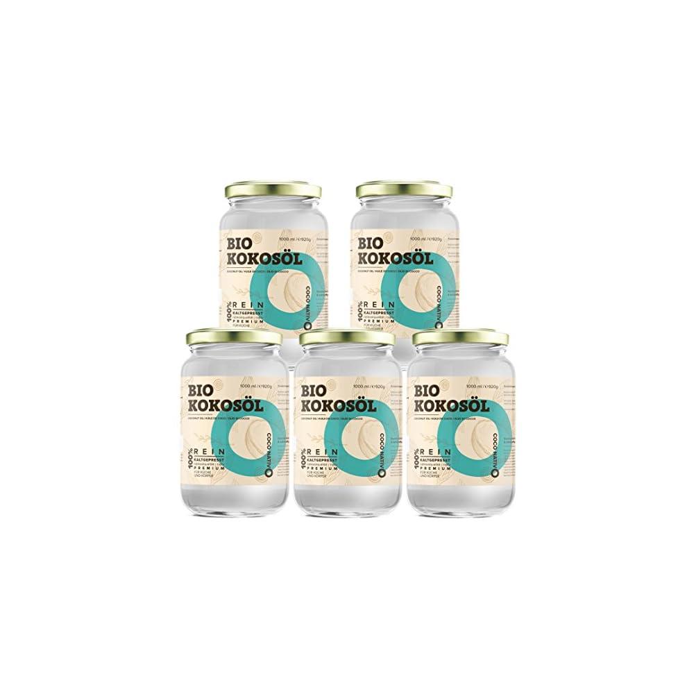 Bio Kokosl Coconativo 5x1000ml 1l Bio Kokosfett Kokosnussl Premium Nativ Kaltgepresst Rohkostqualitt Rein 4000ml Zum Kochen Braten Und Backen Fr Haare Und Haut