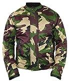 Camouflage Motorrad Jacke mit Protektoren (S)